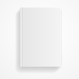 Boek leeg geïsoleerd op een witte achtergrond. lege sjabloon.
