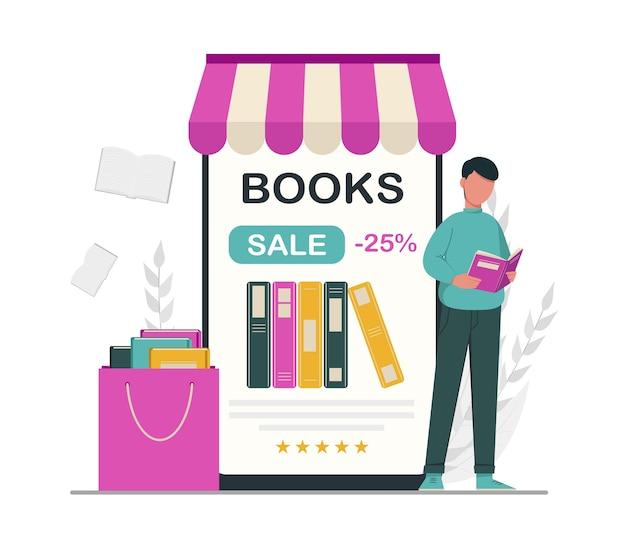 Boek liefhebber bibliotheek concept lezen