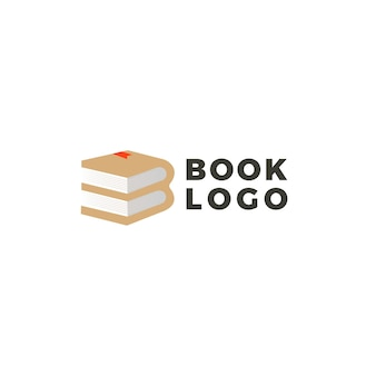 Boek logo ontwerp creatief