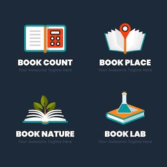 Boek logo sjabloonpakket