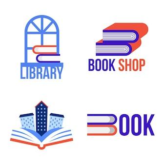 Boek logo sjabloonverzameling