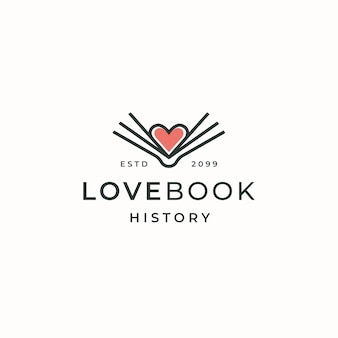 Boek lovers logo pictogram ontwerp sjabloon platte vector