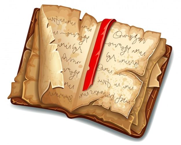 Boek met magische spreuken en hekserij