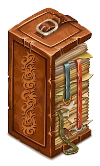Boek met magische spreuken en hekserij.