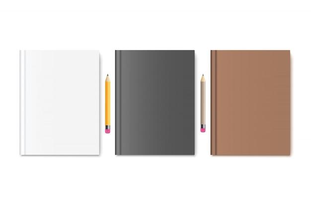 Boek met potloden