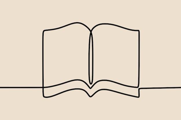 Boek oneline doorlopende lijntekeningen