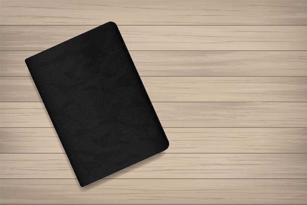 Boek op hout voor achtergrond.