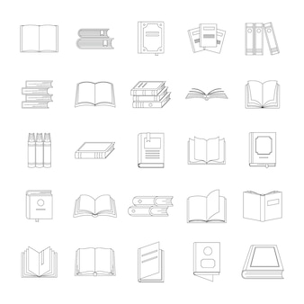 Boek pictogrammen instellen