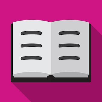 Boek platte pictogram illustratie geïsoleerde vector teken symbool
