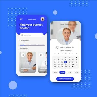 Boek uw afspraak-app voor medische dagen