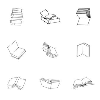 Boek vector. eenvoudige boekillustratie, bewerkbare elementen, kan worden gebruikt in logo-ontwerp