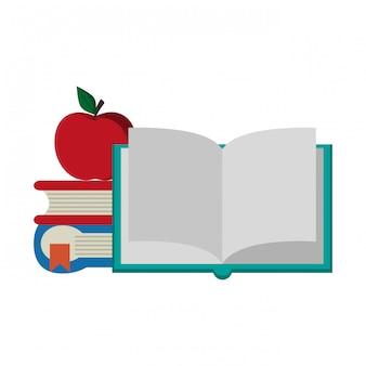 Boeken en appelcartoons