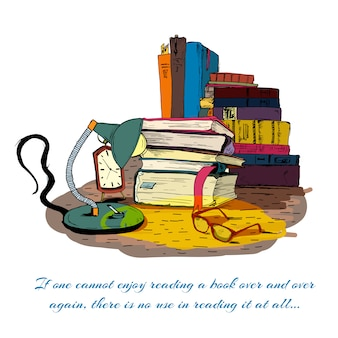 Boeken lezen stilleven