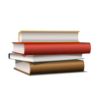 Boeken verschillende kleuren geïsoleerd