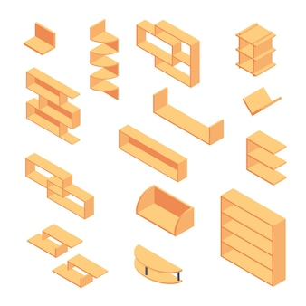 Boekenplank isometrisch