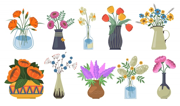 Boeket bloemen instellen