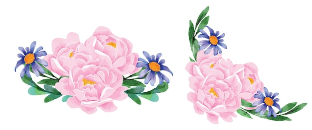 Boeket pioenrozen bloemen