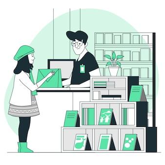Boekhandel concept illustratie