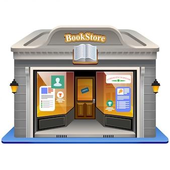 Boekhandel gevel illustratie