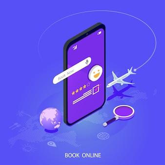 Boeking online concept zomervakantie vakantie.