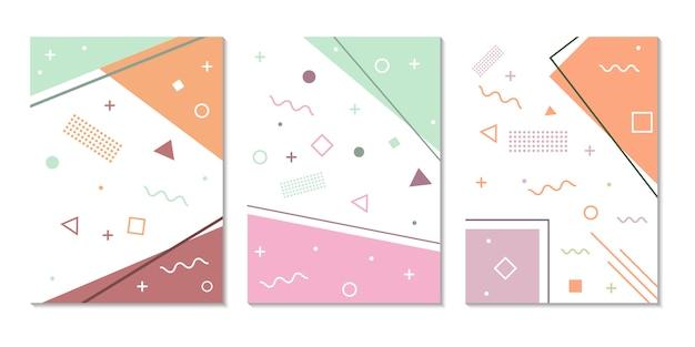 Boekomslag geometrische minimalistische vorm eenvoudig