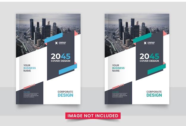 Boekomslag sjabloonontwerp brochureomslagontwerp in a4-formaat