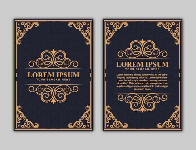 Boekomslagontwerp in a4-formaat. jaarverslag.brochure ontwerp. eenvoudig patroon. flyer, promotie