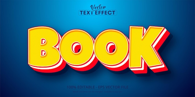 Boektekst, bewerkbaar teksteffect in komische pop-artstijl