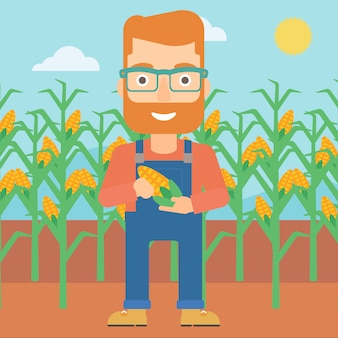 Boer houdt maïs