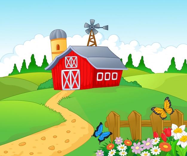 Boerderij achtergrond