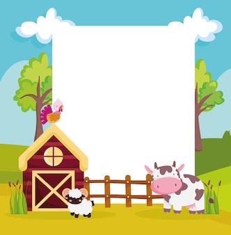 Boerderij cartoon achtergrond