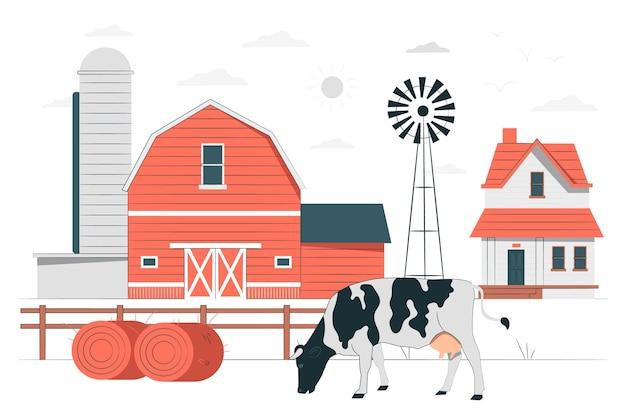Boerderij concept illustratie