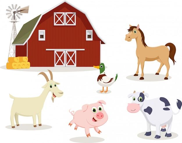 Boerderij dieren cartoon