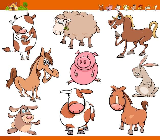 Boerderij dieren instellen cartoon afbeelding