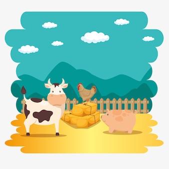 Boerderij dieren pictogram