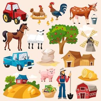 Boerderij icon set