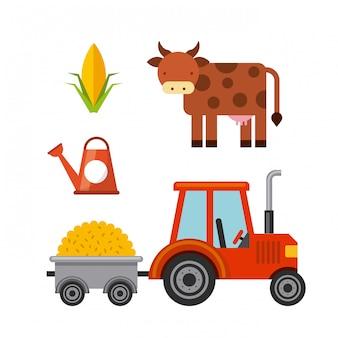 Boerderij iconen ontwerp
