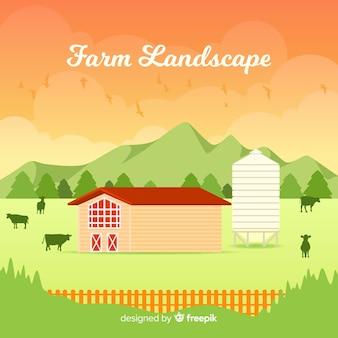 Boerderij landschap