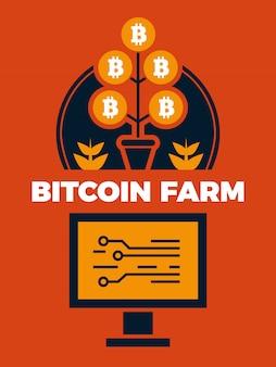 Boerderij met bitcoin