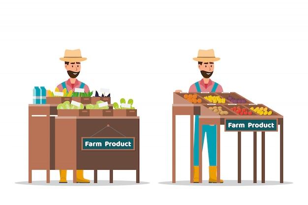 Boerderij verkoop van groenten en fruit