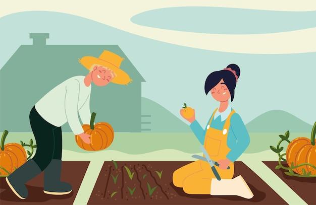 Boeren op de plantage