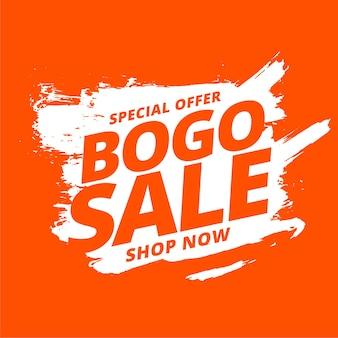 Bogo, koop er één, krijg één verkoopachtergrond