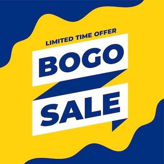 Bogo koop er een, krijg een verkoopbannerontwerp