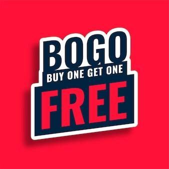 Bogo koopt er een en krijgt een gratis verkoopbanner
