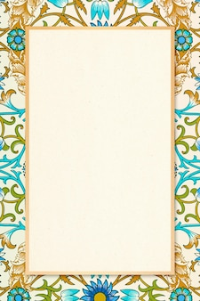 Boheems botanisch frame william morris patroon