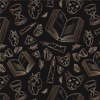 Boheemse lijntekeningen ontwerp achtergrond