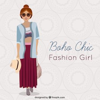 Bohemian chic meisje