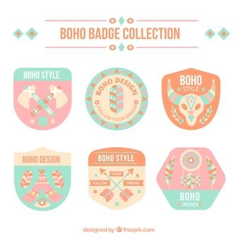 Boho badge collectie