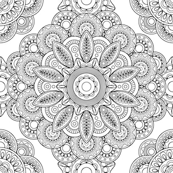 Boho doodle naadloze patroon