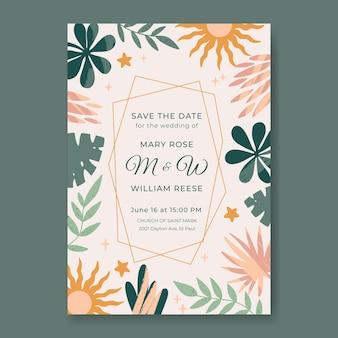 Boho huwelijksuitnodiging